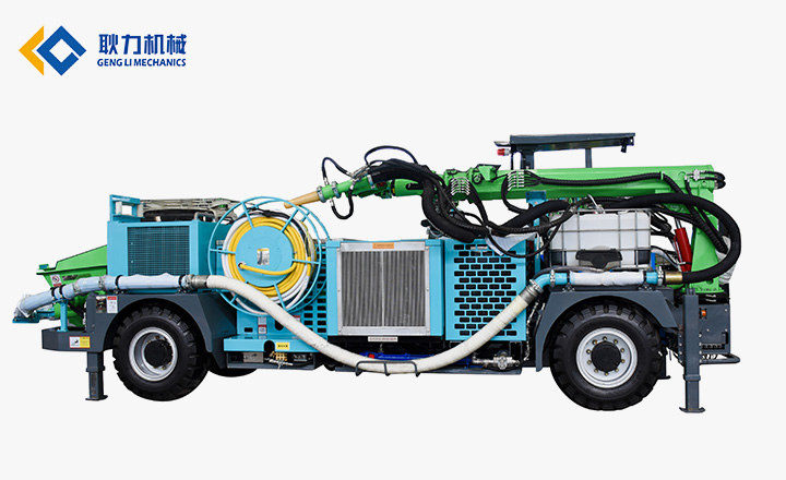 CSPB25T柴油机湿式混凝土喷射车
